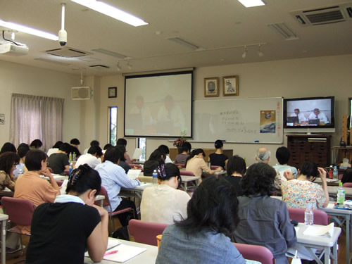 Students attending the seminar at Fukuoka