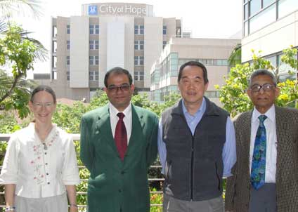 City of Hope Hospital with Dr. Chen and Dr. Barbara Sarter