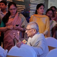 Dr. Prasanta Banerji with guests at the inuguration event