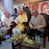 Dr. Prasanta & Pratip Banerji with the Chief Guest HE the Governor of West Bengal, Shri Keshari Nath Tripathiji